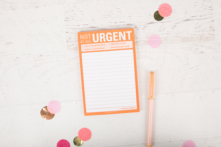 """NOT Urgent"" Stickies by Knock Knock"