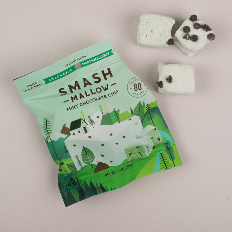 Minty Chips Marshmallows by Smashmallow